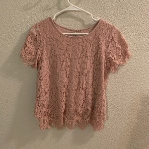 Dusty Pink Lace Top